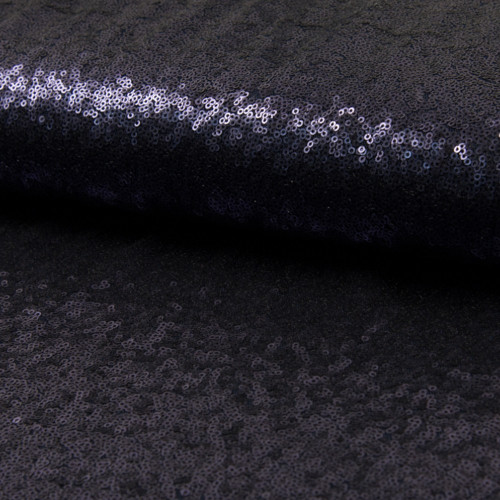 Glitter fabric cocktail navy blue
