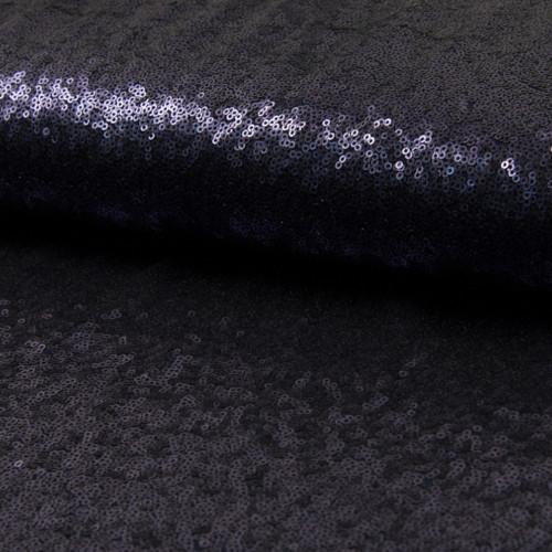Tissu paillettes cocktail bleu marine