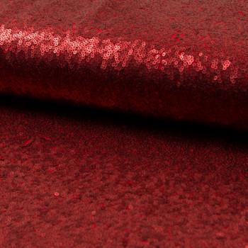 Tissu paillettes cocktail rouge