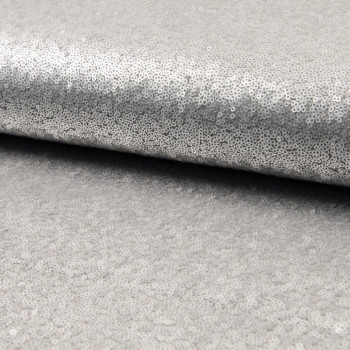 Glitter fabric cocktail silver grey