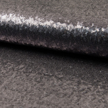Glitter fabric cocktail charcoal grey