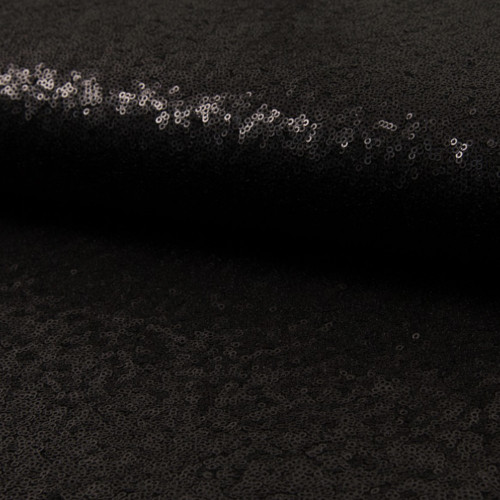 Glitter fabric cocktail black