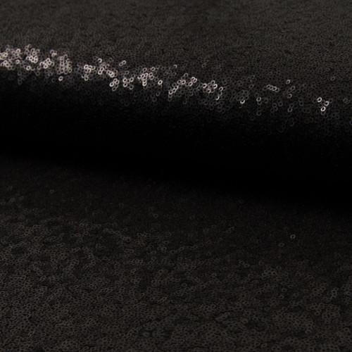 Tissu paillettes cocktail noir