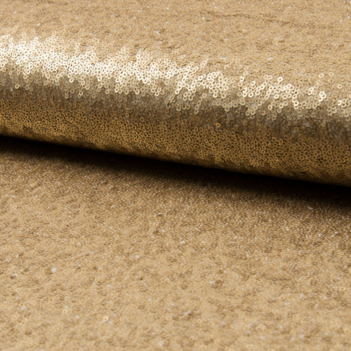 Glitter fabric cocktail gold