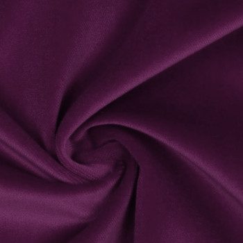 100% cotton plum purple velvet fabric