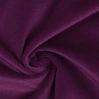 Tissu velours 100% coton violet prune
