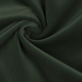 100% cotton pine green velvet fabric