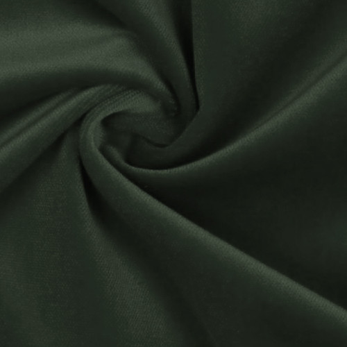 100% cotton pine green velvet fabric