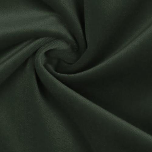 Tissu velours 100% coton vert sapin