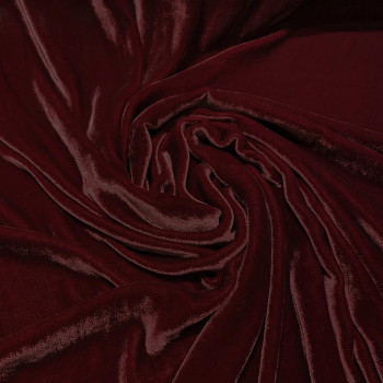 Burgundy sandwashed silk velvet fabric