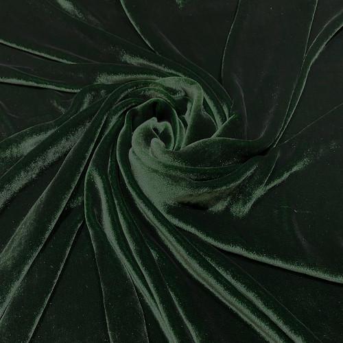 Bottle green sandwashed silk velvet fabric