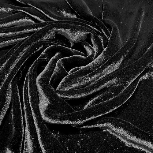 Tissu velours de soie sandwashed noir