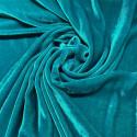 Tissu velours de soie sandwashed bleu turquoise