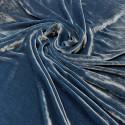 Tissu velours de soie sandwashed bleu indigo