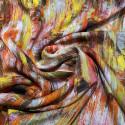 Tissu mousseline de soie imprimé abstrait