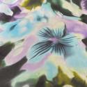 Flower printed silk chiffon fabric