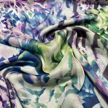 Tissu mousseline de soie imprimé peau de bête abstrait