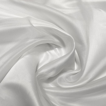 Optical white silk organza fabric
