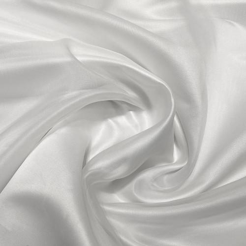 Tissu organza de soie blanc optique