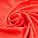 Coral satin cady crepe fabric