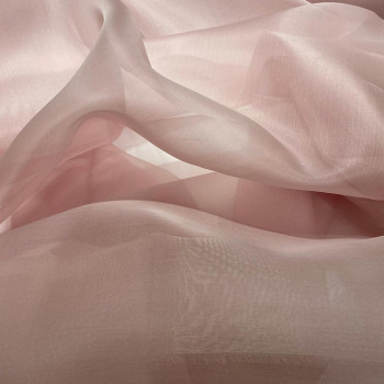 Old pink silk organza fabric