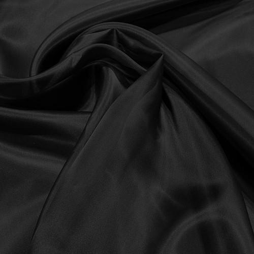 Tissu organza de soie noir