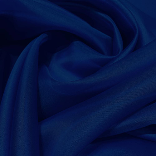 Royal blue silk organza fabric