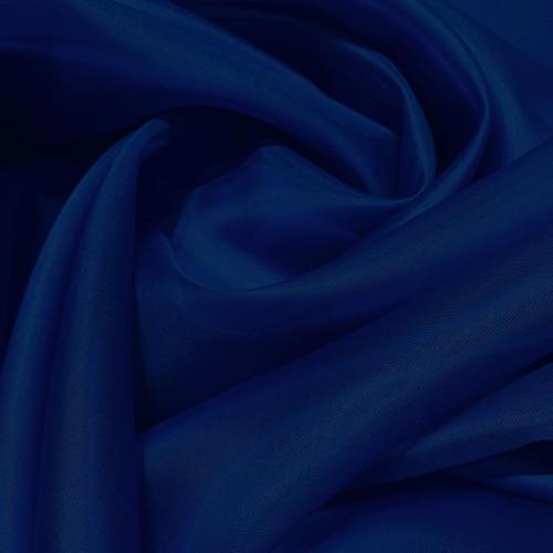Tissu organza de soie bleu royal