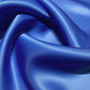 Tissu triple organza de soie bleu