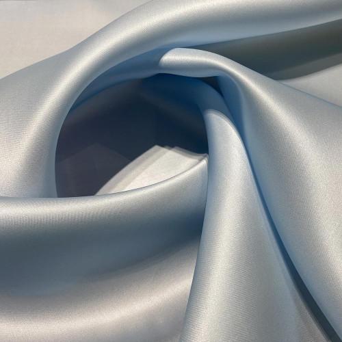 Tissu triple organza de soie bleu ciel