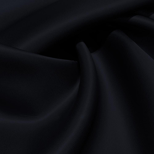 Tissu triple organza de soie bleu marine