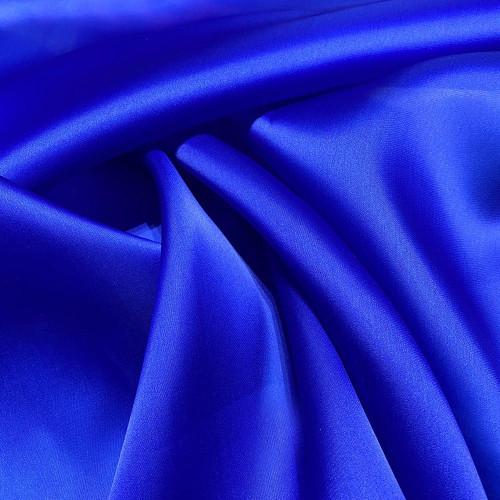 Tissu triple organza de soie bleu royal