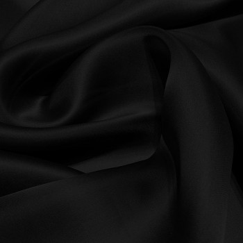 Black satin organza double silk fabric