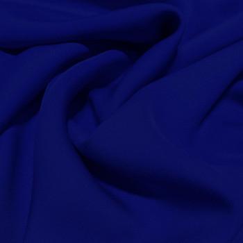 Royal blue fluid silk crepe dobby fabric