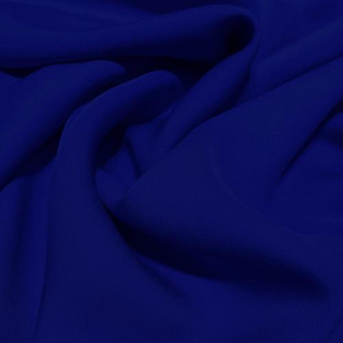 Tissu crêpe de soie fluide bleu royal