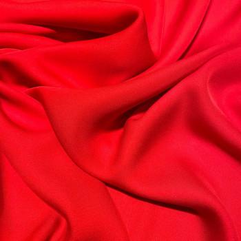 Tissu crêpe de soie fluide rouge