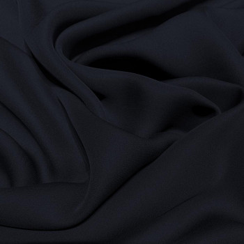 Navy blue fluid silk crepe dobby fabric