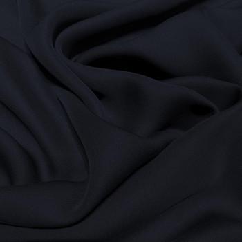Tissu crêpe de soie fluide bleu marine