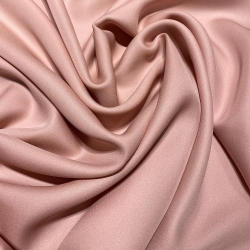 Tissu crêpe de soie fluide vieux rose