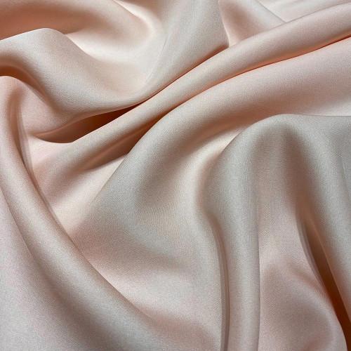 Nude fluid silk crepe dobby fabric