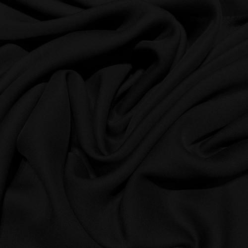 Tissu crêpe de soie fluide noir