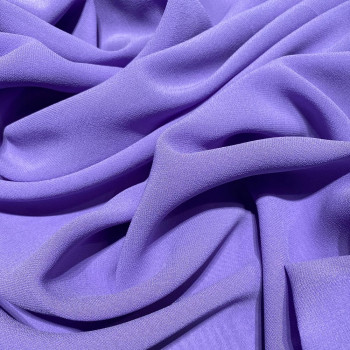 Purple crepe silk georgette fabric