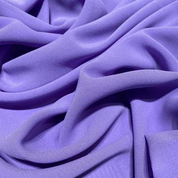 Tissu crêpe georgette de soie violet parme