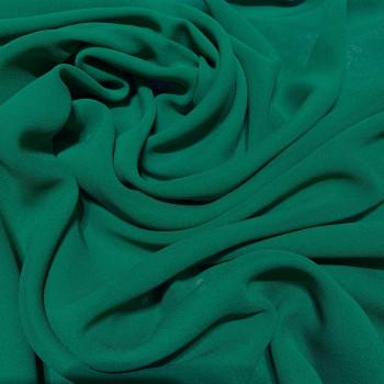 Bottle green crepe silk georgette fabric