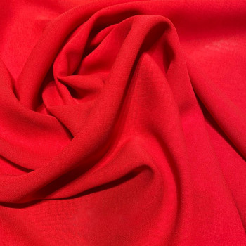 Red crepe silk georgette fabric