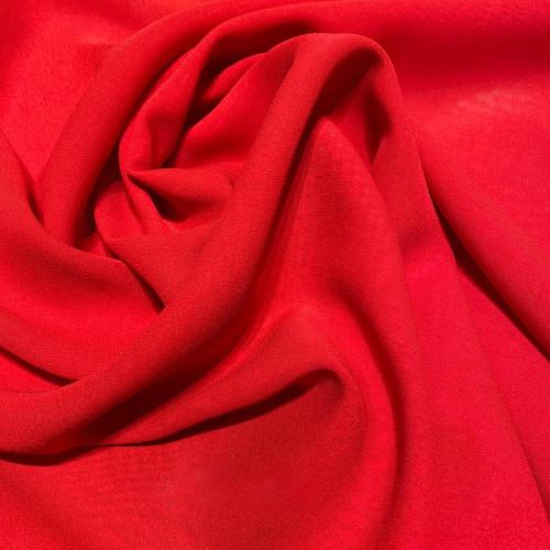 Red crepe silk georgette fabric