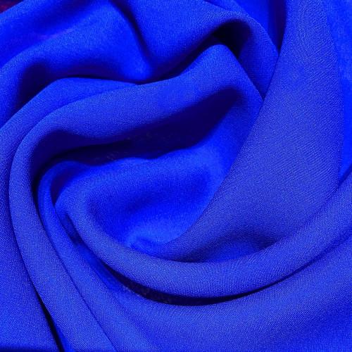 Tissu crêpe georgette de soie bleu royal