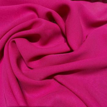 Fuchsia crepe silk georgette fabric