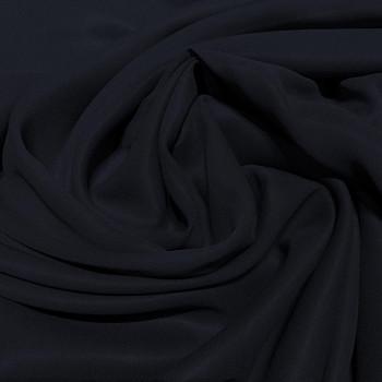 Tissu crêpe georgette de soie bleu marine