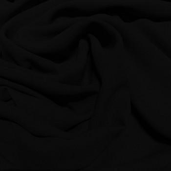 Tissu crêpe georgette de soie noir